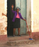 A happy sweeper!