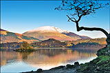 Blencathra over Derwentwater in winter
