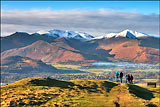 The Derwent Fells from Latrigg, Keswick.