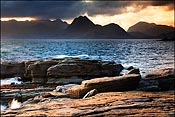 The Cuillin across the sea from Elgol.