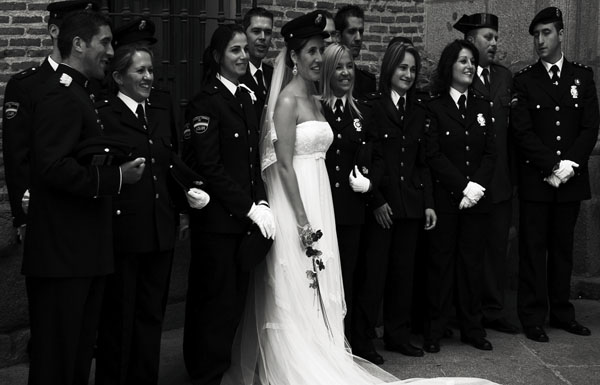 Police wedding in Madrid