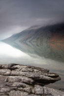 Patterns in the mist on Wast Water
