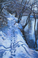 Snow Beside River Nidd