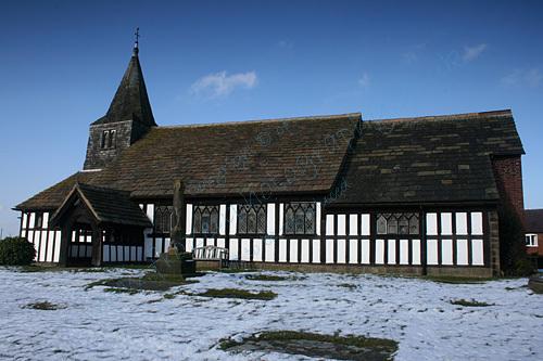 Marton Church In The Snow