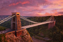 Clifton Suspension Bridge at Sunset, Bristol