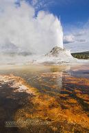 Castle Geyser erupting, Yellowstone
