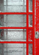 Red Phone Box in the snow