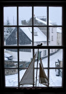 Snowy day in Lyme Regis. November 2005.