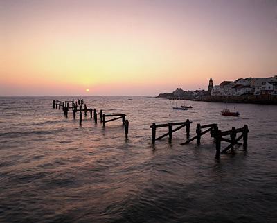 Sunrise over Swanage Old Pier