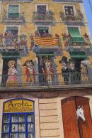 A house gable in Tarragona