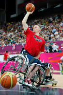 USA Paralympic Wheelchair Basketball team pre-match warm-up