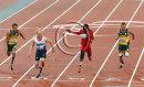 Jonnie Peacock surprises favourite, Oscar Pistorius in the T44 men's 100 metres final