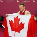The amazing Patrick Anderson of Canada after gold winning final match v Australia