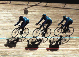 Scotlands Cyclists train for the Commonwealth Games