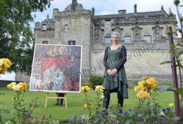Artist in residence at Stirling Castle Iona Leishman