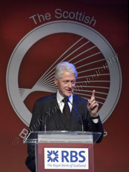 Bill Clinton at the Scottish Business Award
