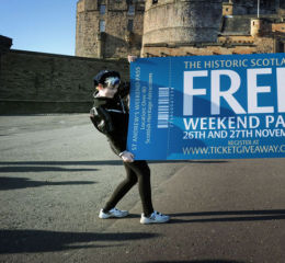 Launch of free pass at Edinburgh Castle