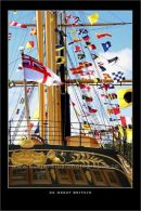 SS Great Britain awash with flags