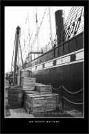 Brunel's SS Great Britain, black and white