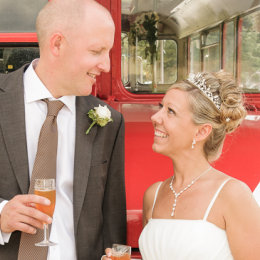 Epping Forest Chingford Wedding 4 Bride Groom London Bus
