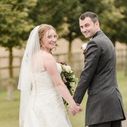 Notley Tythe Barn Long Crendon 05 Bride Groom Shoulder