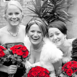 Wandsworth London Wedding Photography 5 Bride Red Flowers