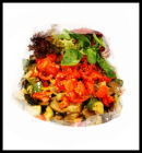 Tomato and Roasted vegetable salad